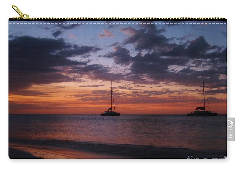 Catamarans At Sunset Carry-all Pouch featuring the photograph Catamarans At Sunset by Halifax Artist John Malone