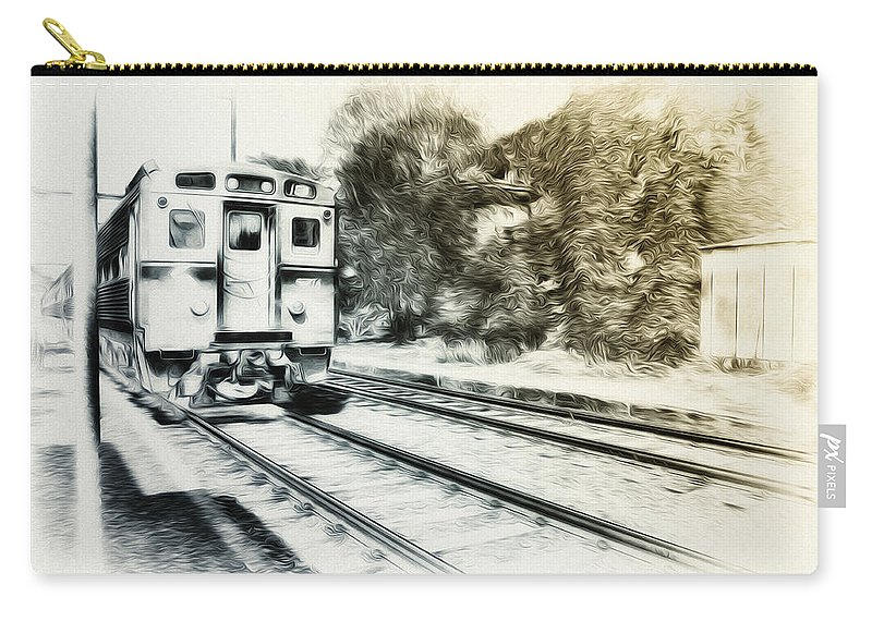 Catch That Train Carry-all Pouch featuring the photograph Catch That Train by Bill Cannon