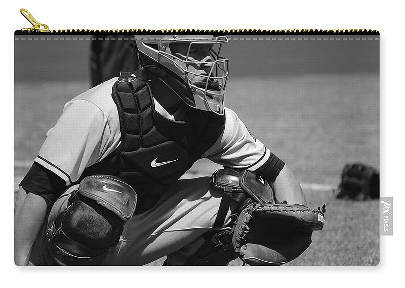 Catcher Carry-all Pouch featuring the photograph Catcher Posey by Eric Tressler