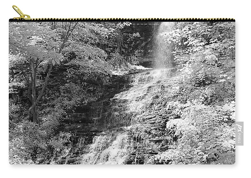 Waterfall Carry-all Pouch featuring the photograph Cathedral Falls by Linda Clifford