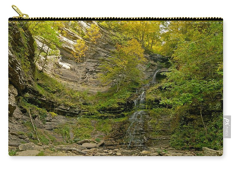 Cathedral Falls Carry-all Pouch featuring the photograph Cathedral Falls West Virginia by Michael Peychich