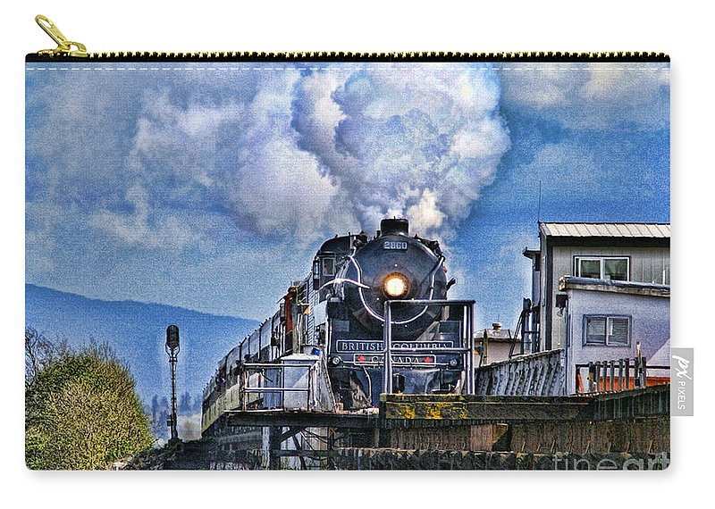 Trains Carry-all Pouch featuring the photograph Catr064-07 by Randy Harris