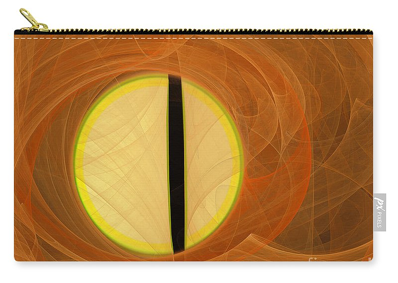 Digital Carry-all Pouch featuring the digital art Cat's Eye by Victoria Harrington