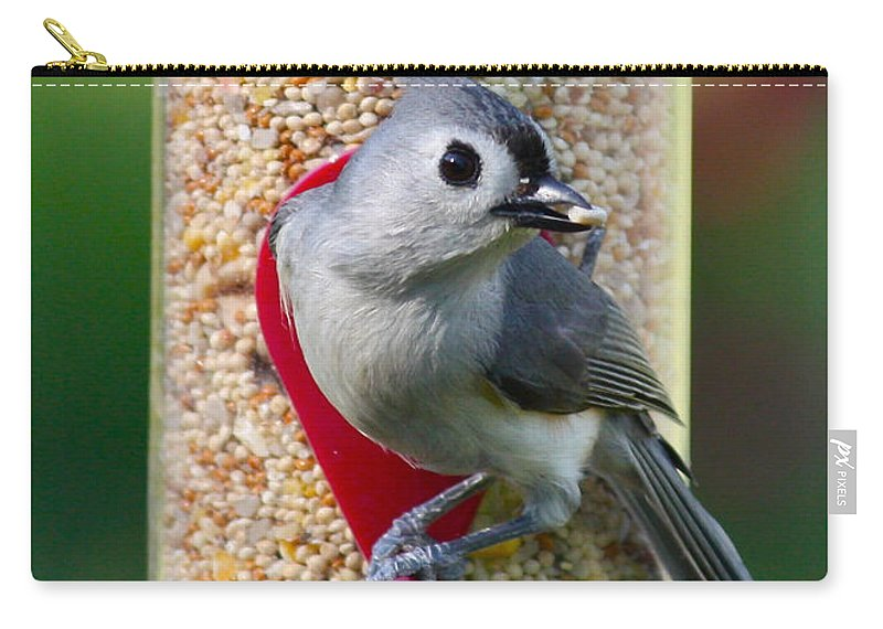 Bird Carry-all Pouch featuring the photograph Caught Ya by Carol Groenen
