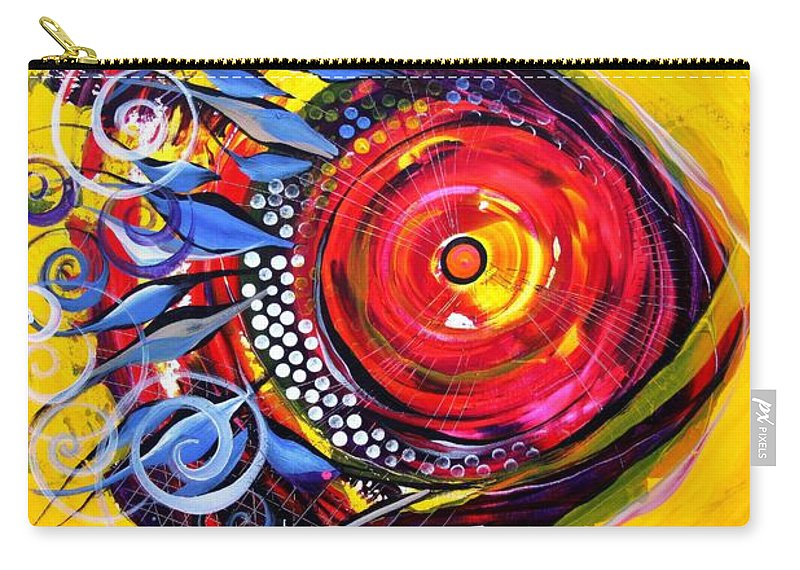 Fish Carry-all Pouch featuring the painting Cautionary Carnival Fish by J Vincent Scarpace