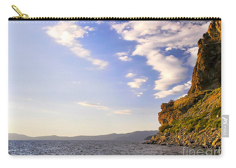 Cave Rock Carry-all Pouch featuring the photograph Cave Rock - Lake Tahoe by John Waclo