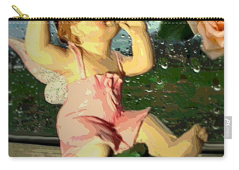 Rain Carry-all Pouch featuring the photograph Celebrate The Rain With Roses 2 by Joyce Dickens