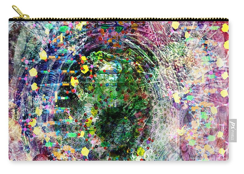 Abstract Carry-all Pouch featuring the digital art Cell Dreaming 3 by Russell Kightley
