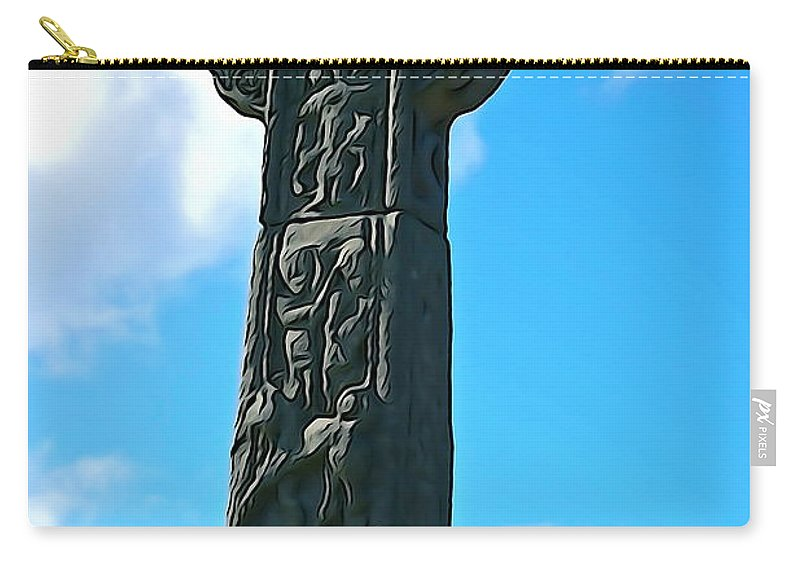 Cross Carry-all Pouch featuring the photograph Celtic Cross by Charlie and Norma Brock