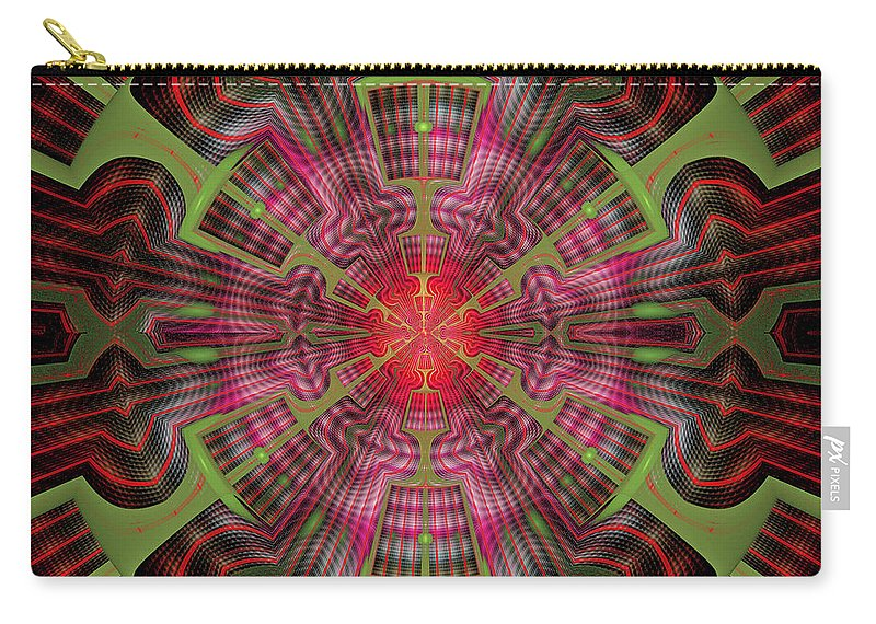 Fractal Carry-all Pouch featuring the digital art Center Point by Sandy Keeton