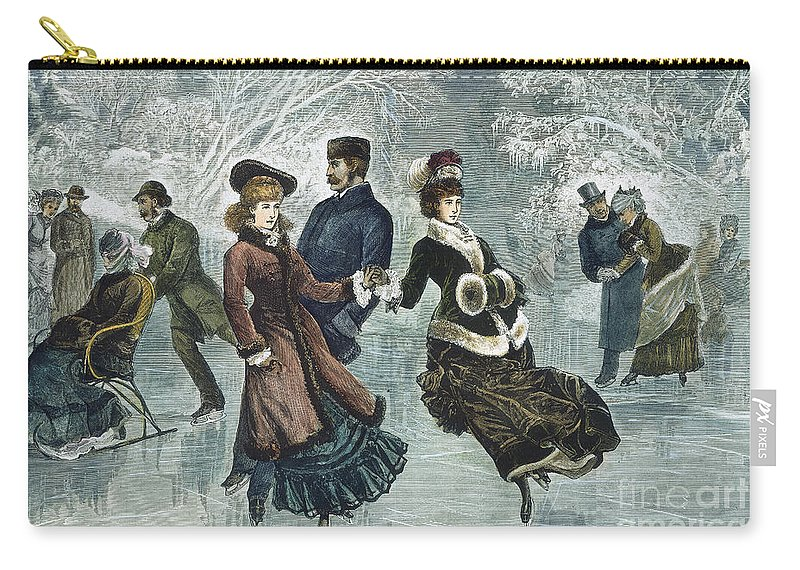 1877 Carry-all Pouch featuring the photograph Central Park, Nyc, 1877 by Granger