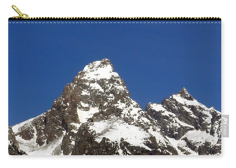 Central Carry-all Pouch featuring the photograph Central Teton Mountain Peak by Douglas Barnett