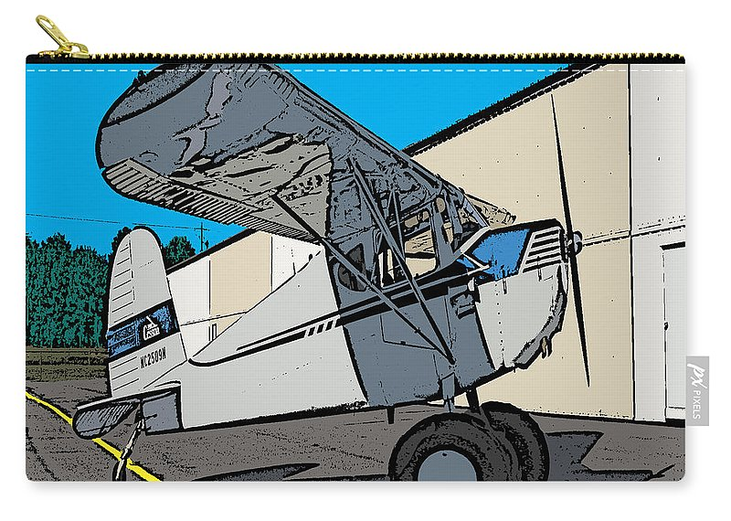 Cartoon Carry-all Pouch featuring the painting Cessie by Steven Richardson