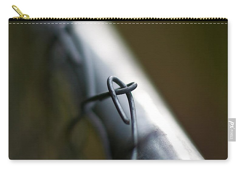Chainlink Carry-all Pouch featuring the photograph Chain Link by Mike Reid