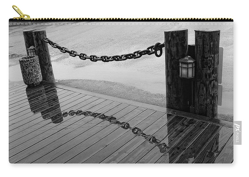 Chain Carry-all Pouch featuring the photograph Chained Together by Donna Blackhall