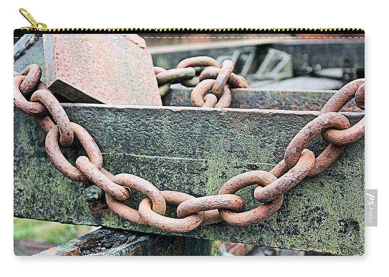 Chain Carry-all Pouch featuring the photograph Chains by Kristin Elmquist