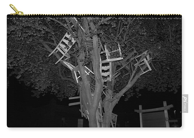 Chair Carry-all Pouch featuring the photograph Chairy Tree by Michael Merry