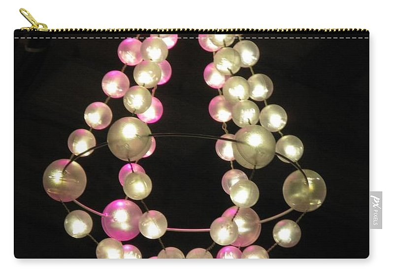 Chandelier Carry-all Pouch featuring the photograph Chandelier From Pearls by Ausra Huntington nee Paulauskaite