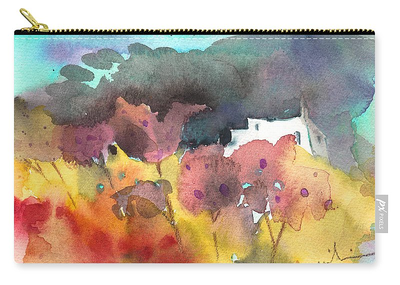 Aquarelle Carry-all Pouch featuring the painting Chapel On Planet Goodaboom by Miki De Goodaboom