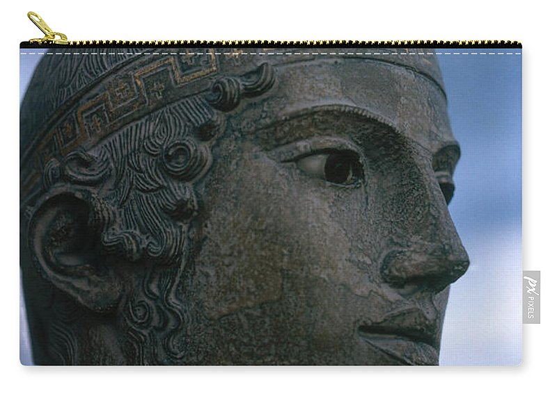 Statue Carry-all Pouch featuring the photograph Charioteer Of Delphi by Photo Researchers