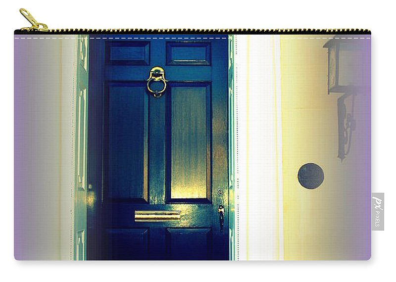 Charleston Carry-all Pouch featuring the photograph Charleston Door 6 by Susanne Van Hulst