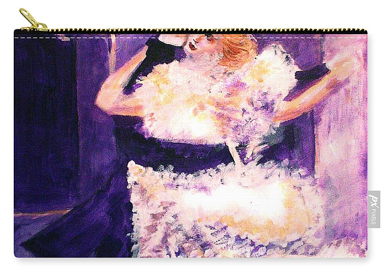 Cheek To Cheek Carry-all Pouch featuring the painting Cheek to Cheek by Seth Weaver