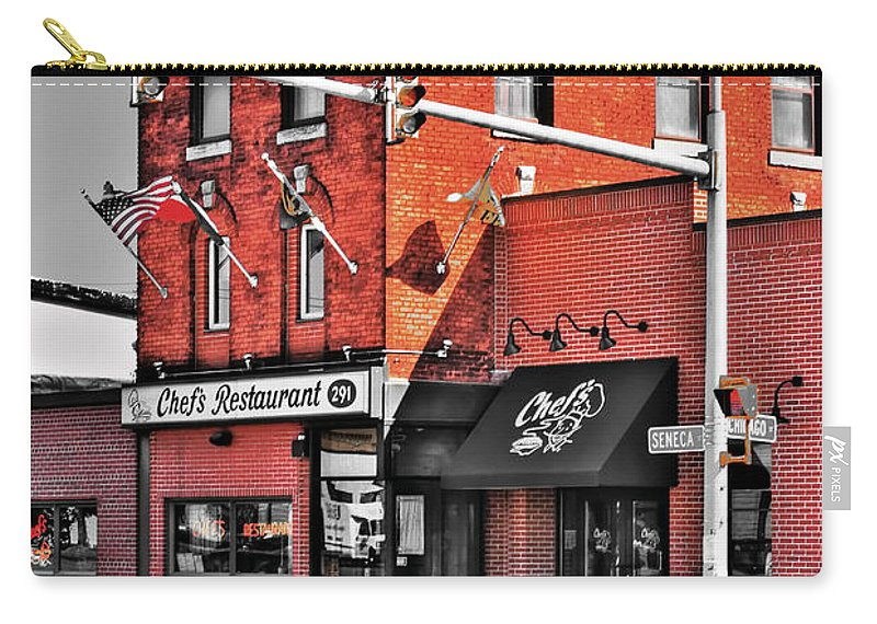 Carry-all Pouch featuring the photograph Chefs Restaurant by Michael Frank Jr