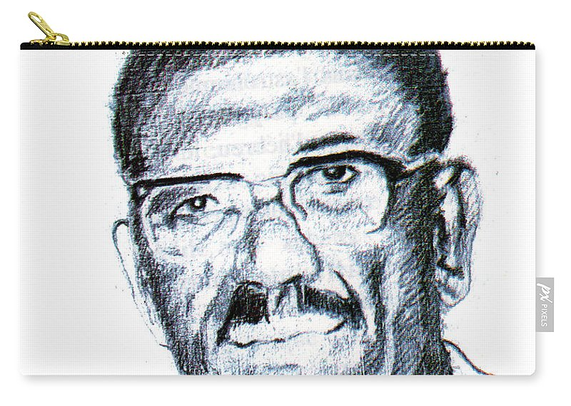 Portraits Carry-all Pouch featuring the painting Cheikh Anta Diop by Emmanuel Baliyanga