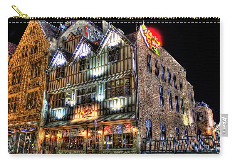 Cheli's Chili Bar Carry-all Pouch featuring the photograph Cheli's Chili Bar Detroit by Nicholas Grunas