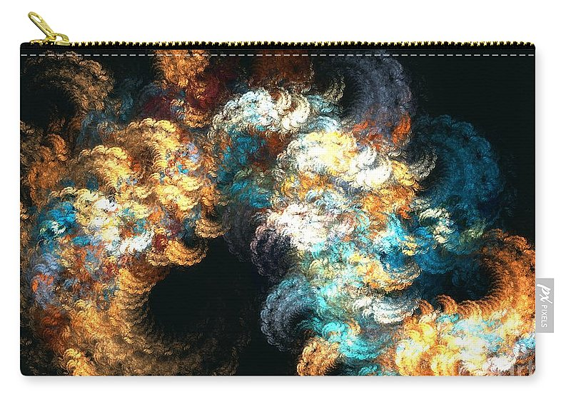 Apophysis Carry-all Pouch featuring the digital art Chenille by Kim Sy Ok