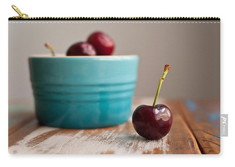Cherry Carry-all Pouch featuring the photograph Cherry by Tammy Lee Bradley