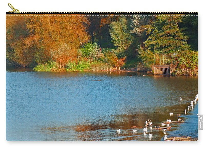 Autumn Landscape Carry-all Pouch featuring the photograph Chester In Autumn by Bai Qing Lyon