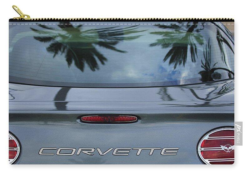 Chevrolet Corvette Carry-all Pouch featuring the photograph Chevrolet Corvette by Jill Reger