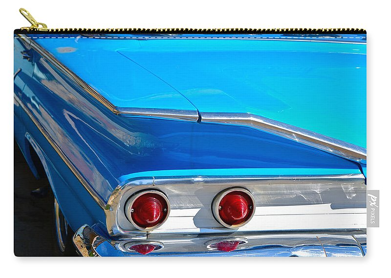 Chevy Carry-all Pouch featuring the photograph Chevy Bel Air Fin by Bill Owen