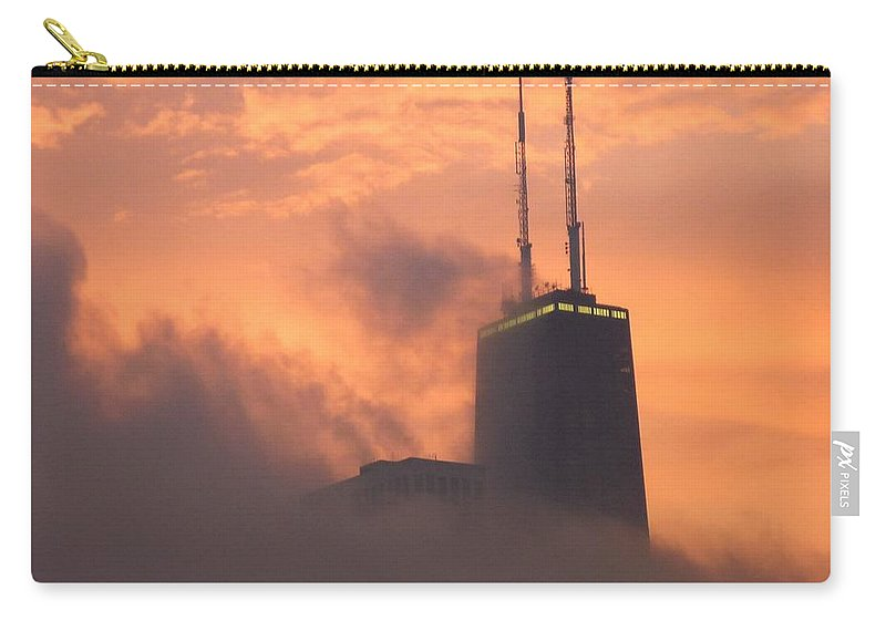 Chicago Carry-all Pouch featuring the photograph Chicago Dusk by Valentino Visentini