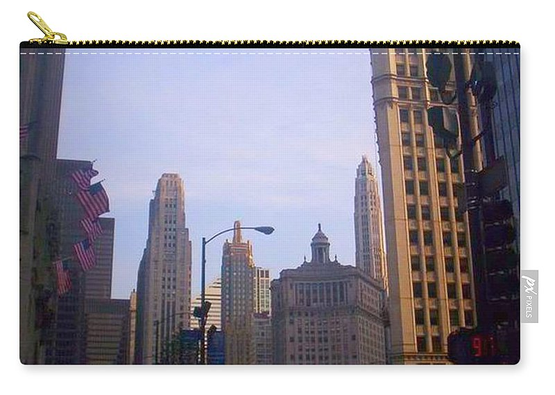 Chicago Carry-all Pouch featuring the photograph Chicago Scene by Samantha L