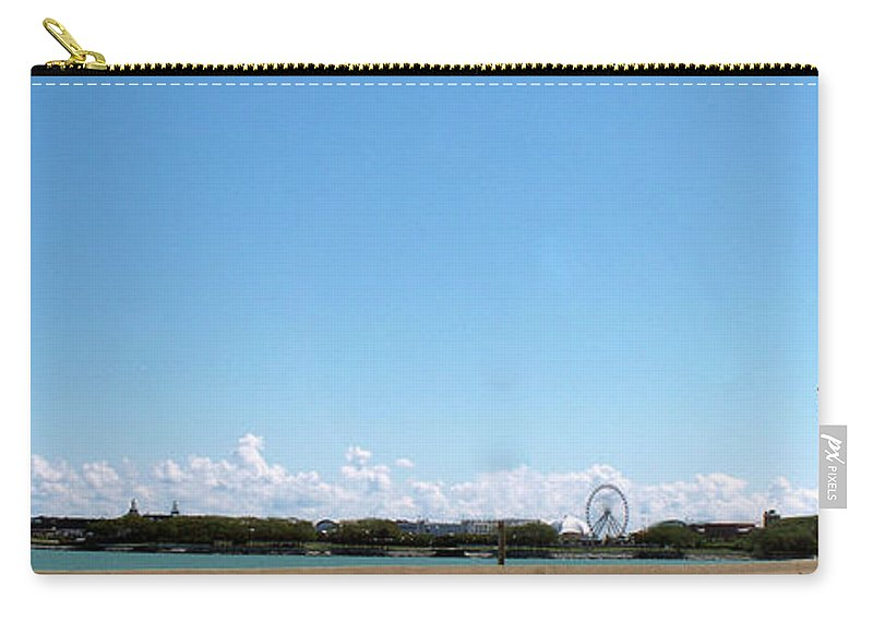 Cities Carry-all Pouch featuring the photograph Chicago Summer Sky by Thomas Woolworth