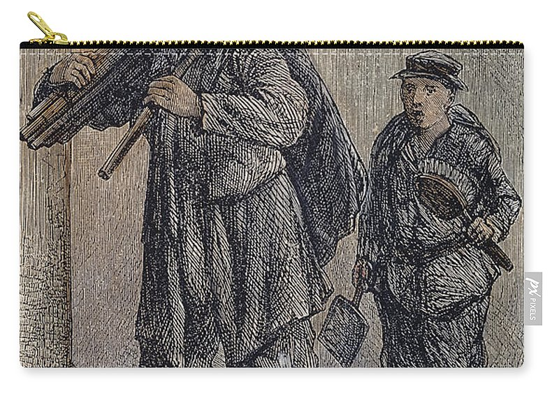 19th Century Carry-all Pouch featuring the photograph Chimney Sweeps by Granger