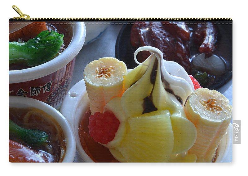 Chinese Food Miniatures Carry-all Pouch featuring the photograph Chinese Food Miniatures 2 by Bill Owen