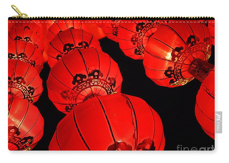 Asia Carry-all Pouch featuring the photograph Chinese Lanterns 3 by Xueling Zou