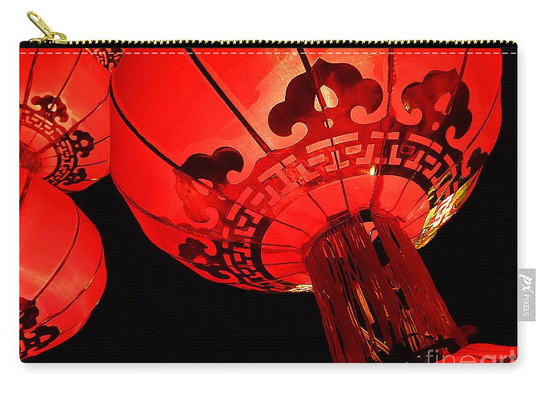 Asia Carry-all Pouch featuring the photograph Chinese Lanterns 4 by Xueling Zou