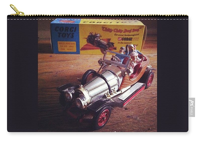 Car Carry-all Pouch featuring the photograph Chitty Chitty Bang Bang Corgi Toy by Katie Cupcakes