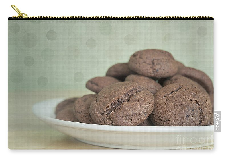 Chocolate Lovers Carry-all Pouch featuring the photograph Chocolate Cookies by Priska Wettstein