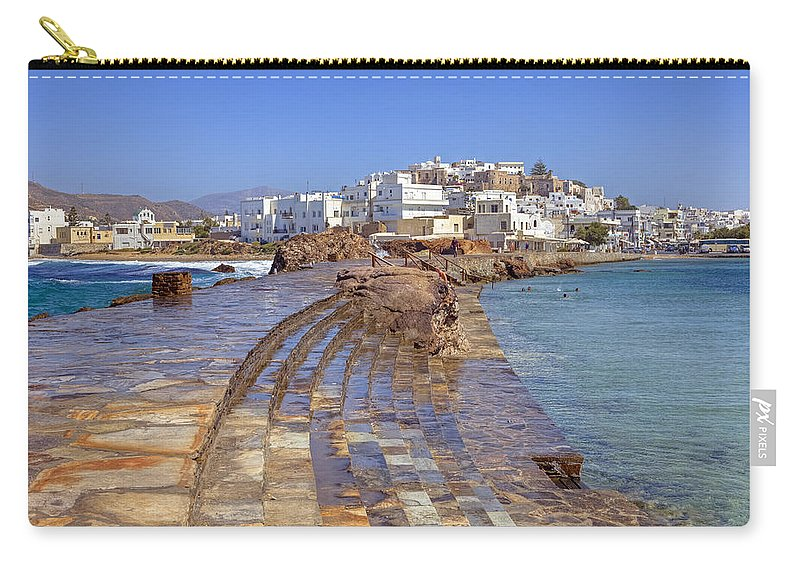 Naxos Carry-all Pouch featuring the photograph Chora Naxos by Joana Kruse