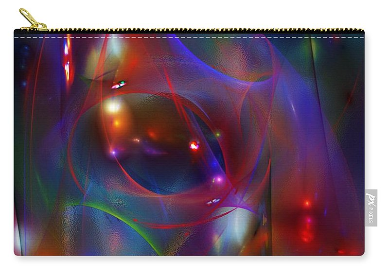 Fine Art Carry-all Pouch featuring the digital art Christmas Abstract 112711 by David Lane
