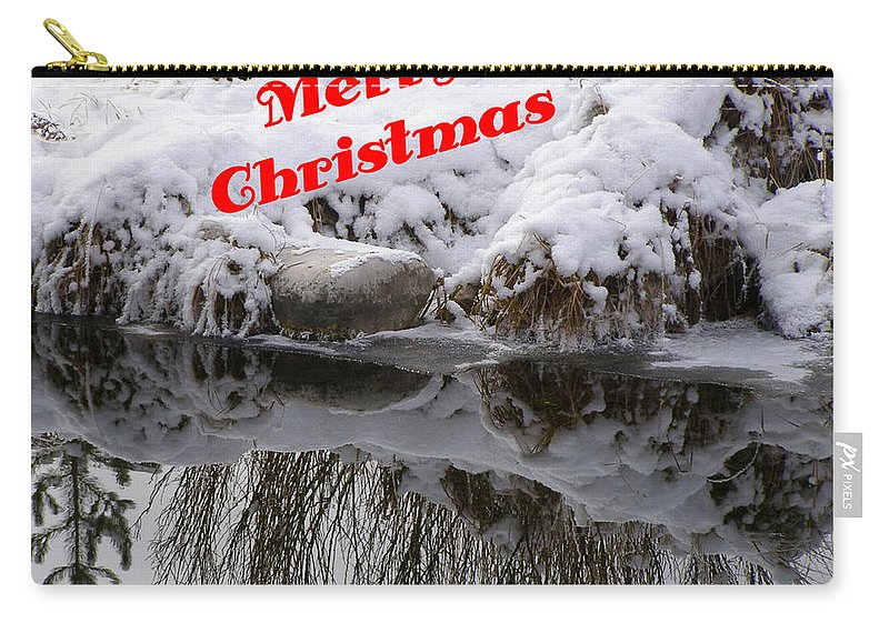 Christmas Cards Carry-all Pouch featuring the photograph Christmas Along The Creek by DeeLon Merritt