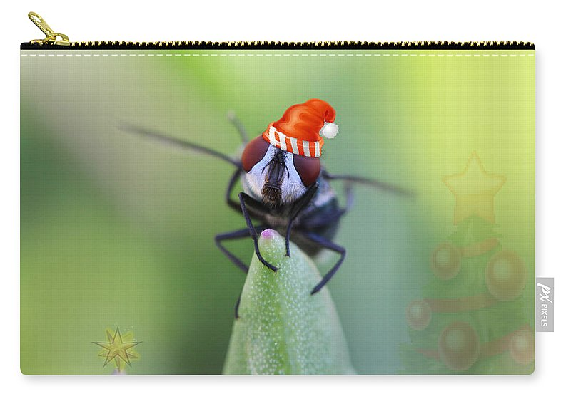 Christmas Carry-all Pouch featuring the photograph Christmas Blow Fly by Ronel Broderick