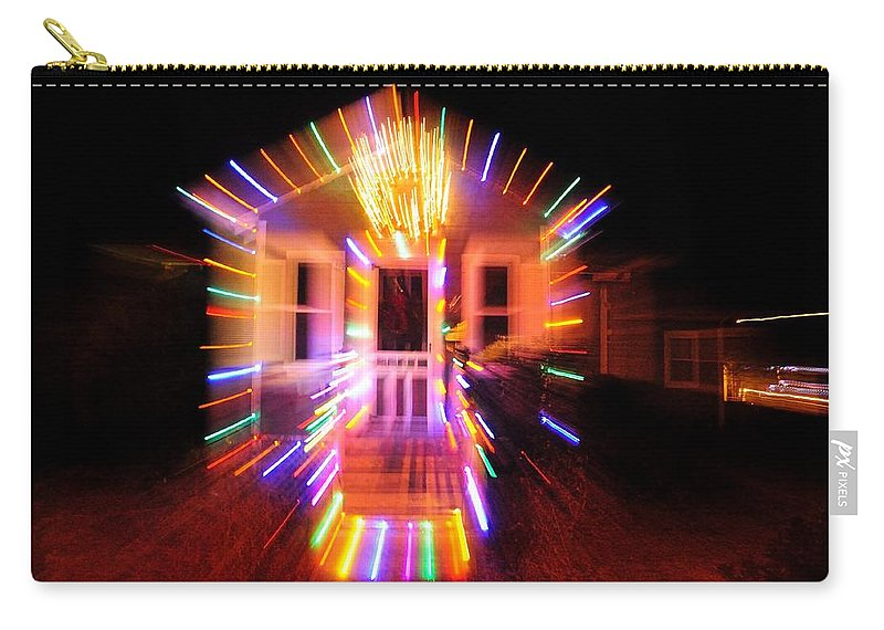 Carry-all Pouch featuring the photograph Christmas Lights by Mark Valentine