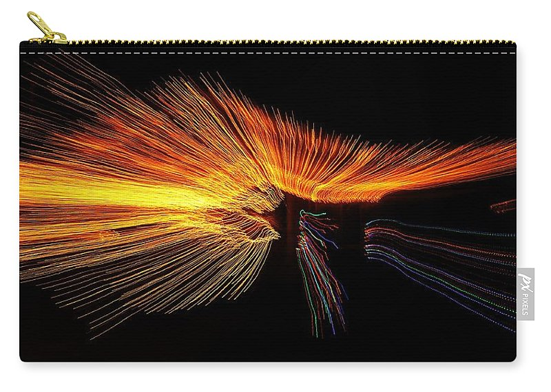 Carry-all Pouch featuring the photograph Christmas Lights Wave by Mark Valentine