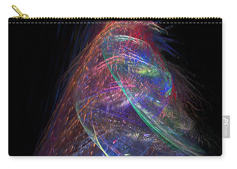 Abstract Carry-all Pouch featuring the digital art Christmas Tree 37 by Russell Kightley